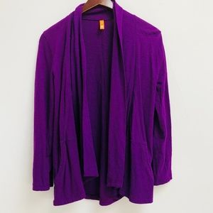 Purple Lucy open front cardigan size XS